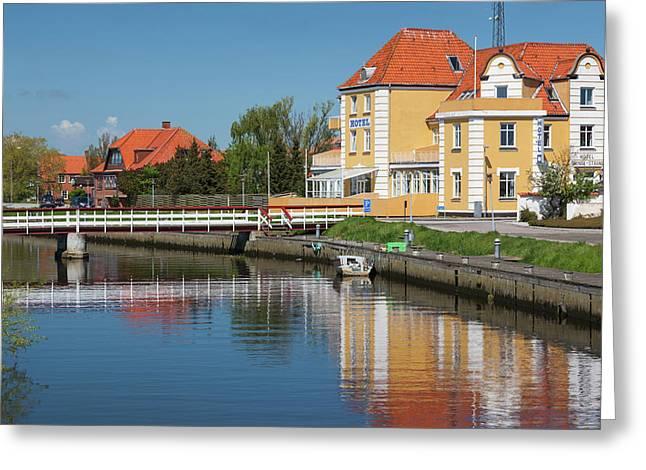 Denmark, Jutland, Grenaa, Buildings Greeting Card