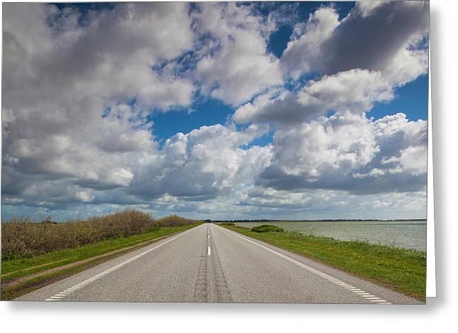 Denmark, Jutland, Oslos, Route 11 Road Greeting Card