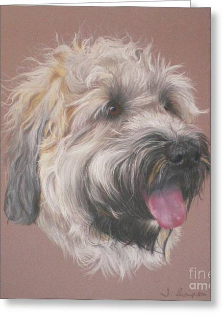 Dennis - Wheaten Terrier Greeting Card by Joanne Simpson