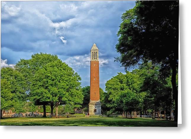 Denny Chimes - University Of Alabama Greeting Card by Mountain Dreams