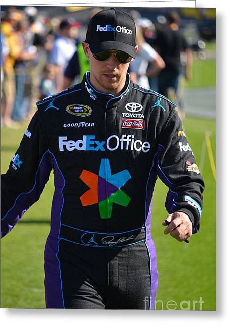 Denny Hamlin Greeting Card