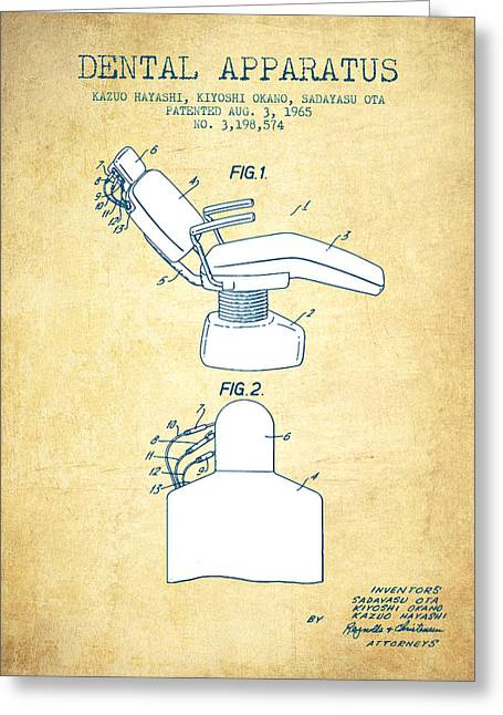 Dental Apparatus Patent From 1965 - Vintage Paper Greeting Card