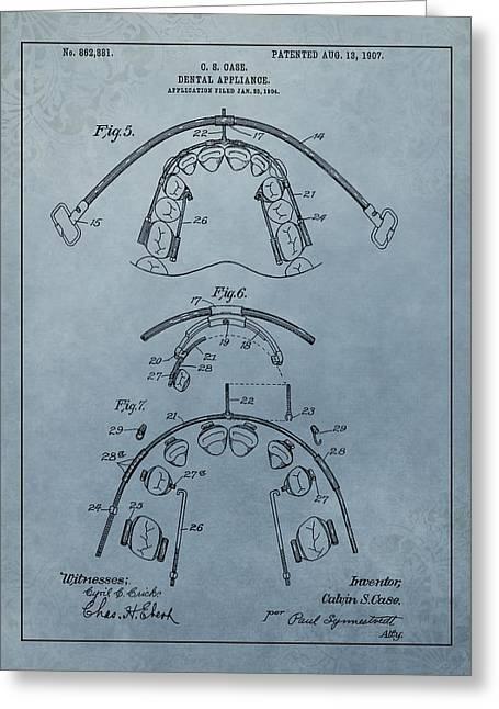 Dental Braces Patent Design Greeting Card