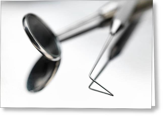 Dental Instruments Greeting Card by Tek Image