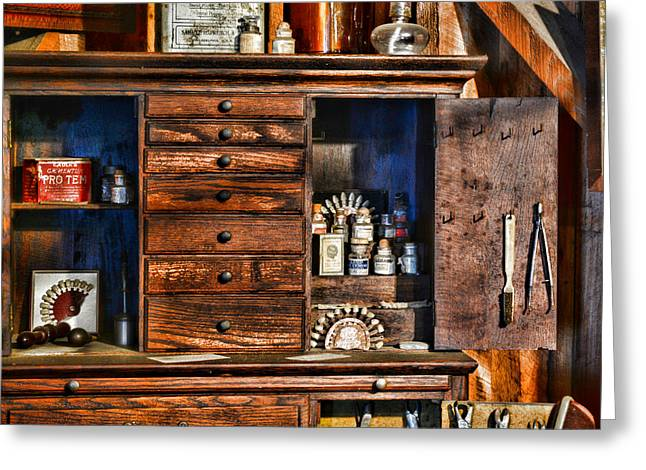 Dentist - A Place For Dental Tools Greeting Card by Paul Ward