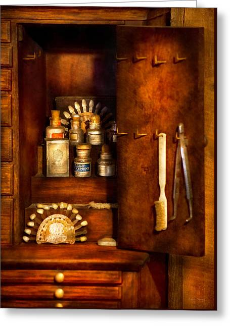 Dentist - The Dental Cabinet Greeting Card