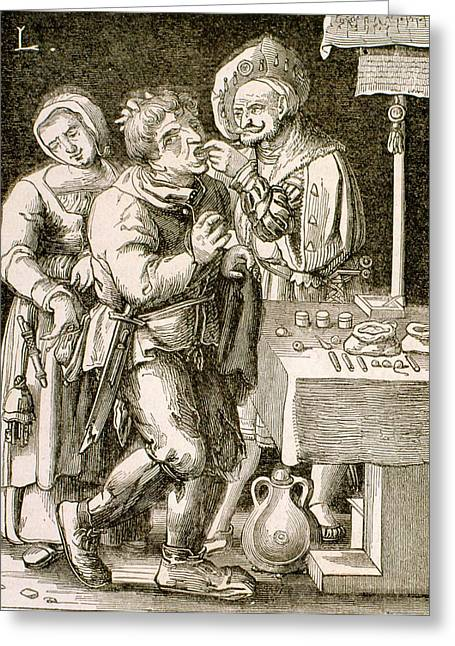 Dentistry In 17th Century France Greeting Card by Universal History Archive/uig