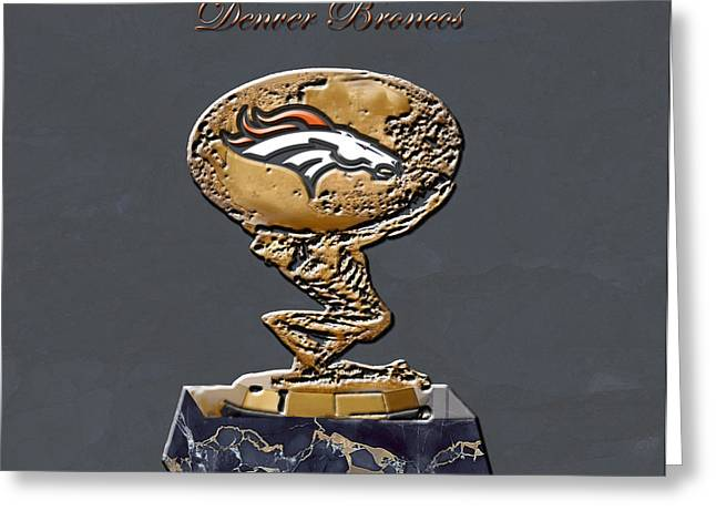 Denver Broncos Greeting Card by Brian Reaves