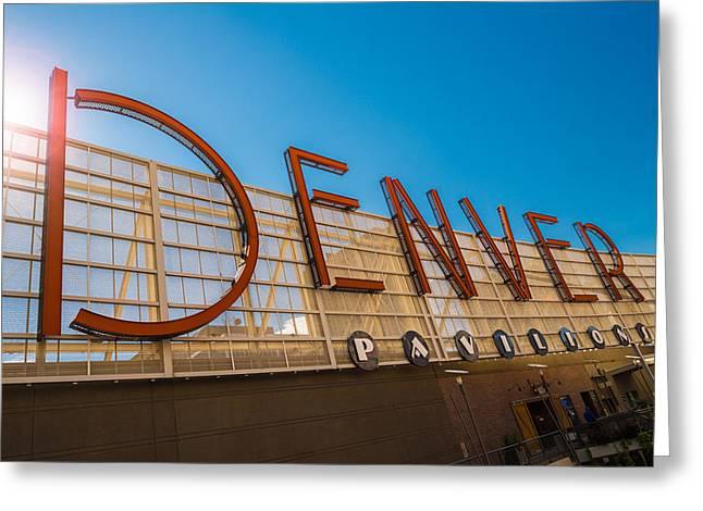 Denver Co Sign Greeting Card