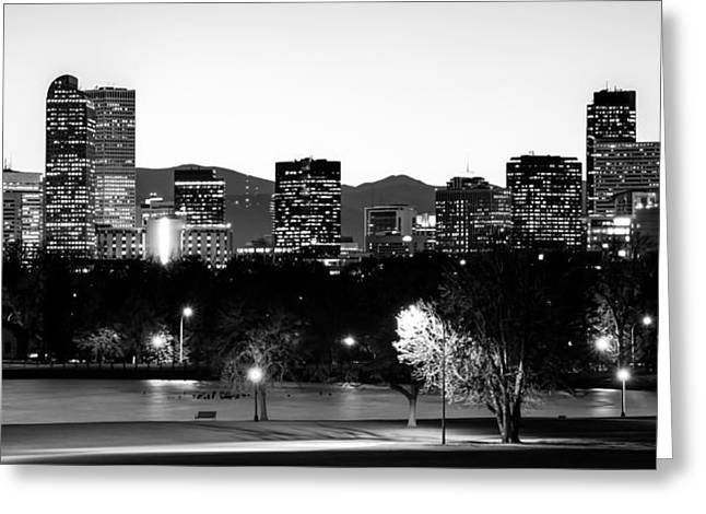 Denver Colorado In Black And White Greeting Card by Gregory Ballos