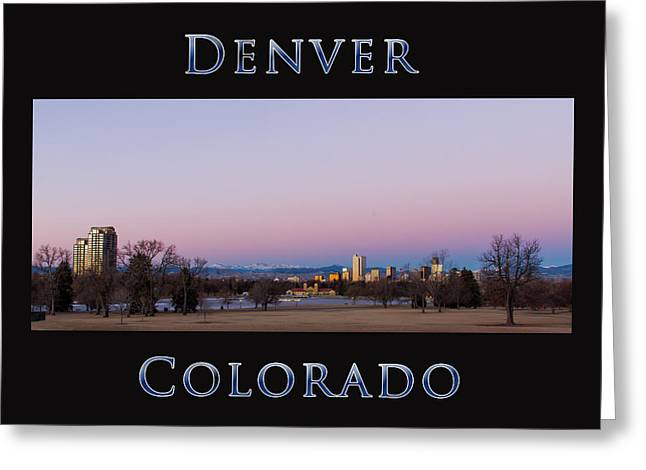 Denver Colorado Sunrise Greeting Card