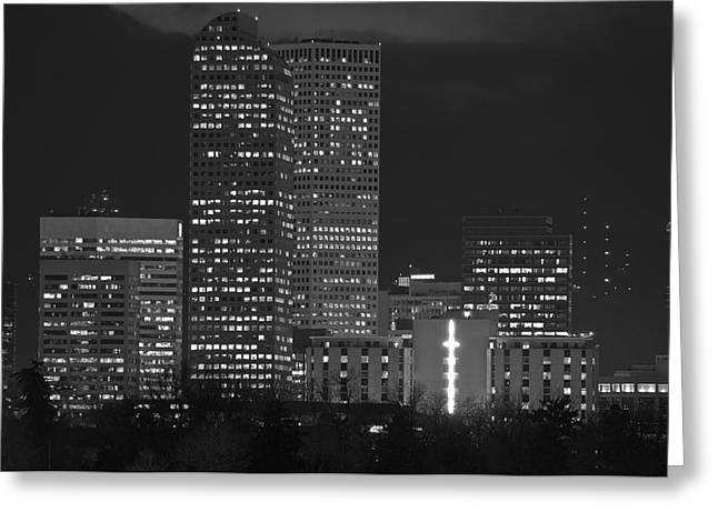 Denver Downtown  Greeting Card by Eric Rundle