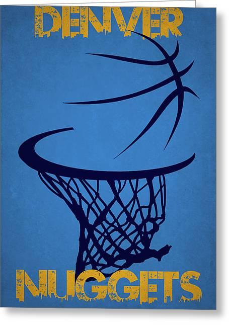 Denver Nuggets Hoop Greeting Card by Joe Hamilton