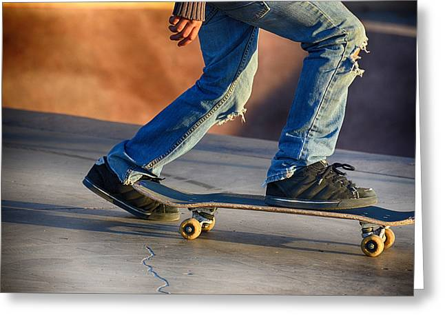 Denver Skater Fashion Statement Greeting Card