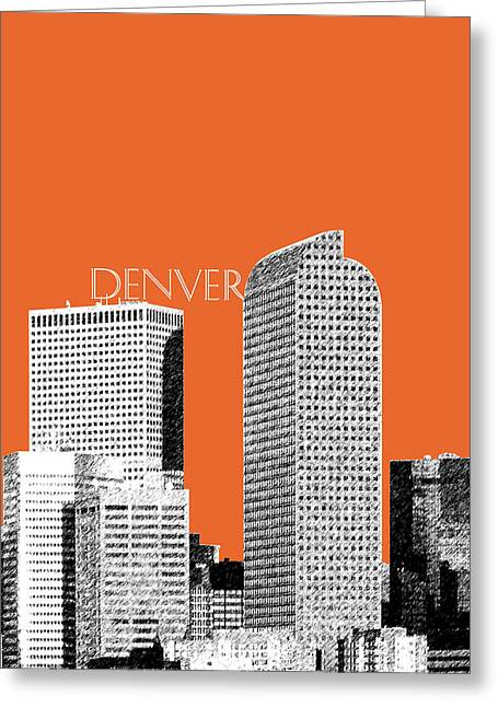 Denver Skyline - Coral Greeting Card by DB Artist