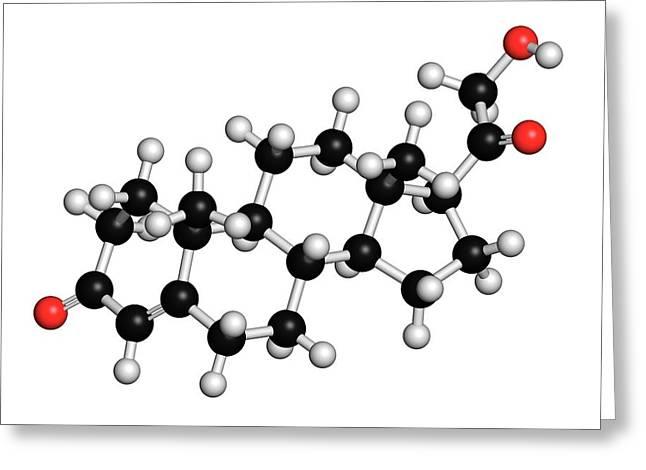 Deoxycorticosterone Hormone Molecule Greeting Card
