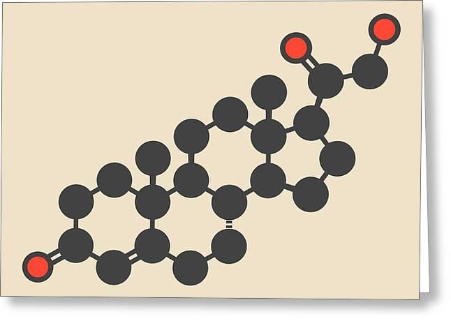 Deoxycorticosterone Molecule Greeting Card by Molekuul