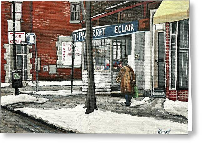 Depanneur Arret Greeting Card by Reb Frost