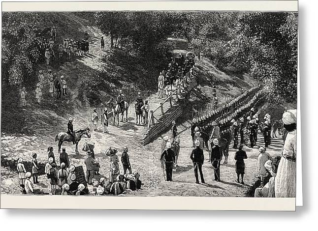 Departure Of The Duke And Duchess Of Connaught From Murree Greeting Card
