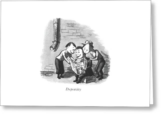 Depravity Greeting Card