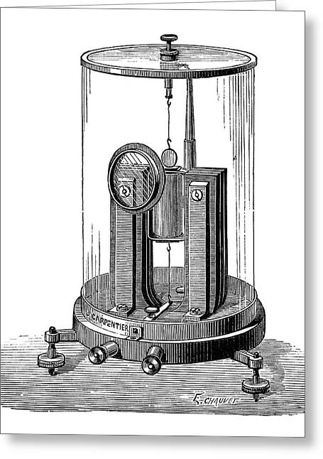 Deprez-d'arsonval Galvanometer Greeting Card by Science Photo Library