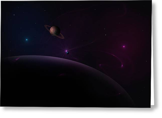 Depth Of Space Greeting Card by Ricky Haug