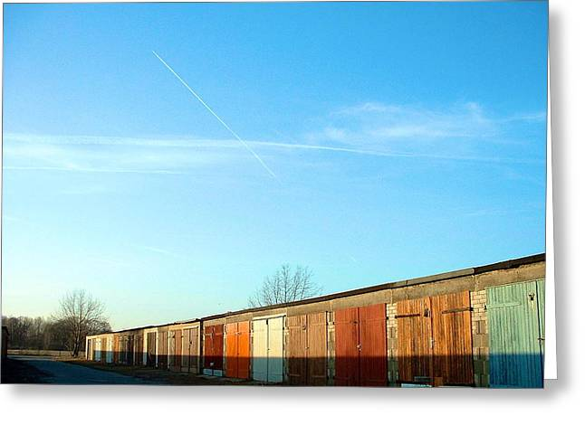Depuis Les Garages Colores Greeting Card