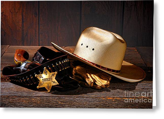 Deputy Sheriff Gear  Greeting Card by Olivier Le Queinec