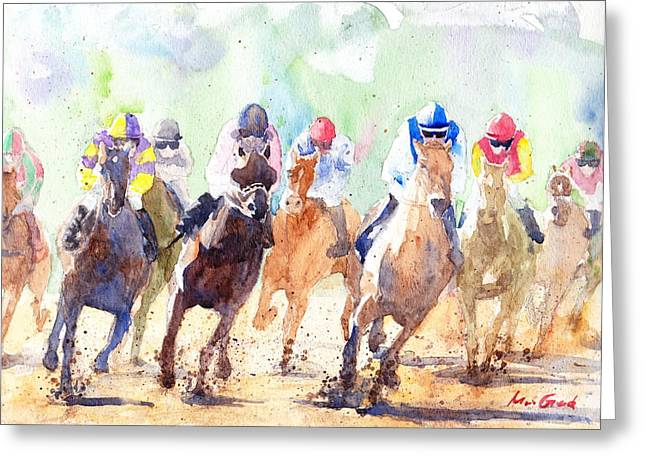 Derby Greeting Card by Max Good