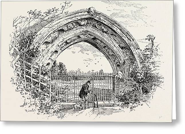 Derby, Ruined Arch Leading To Vestibule Of The Chapter-house Greeting Card