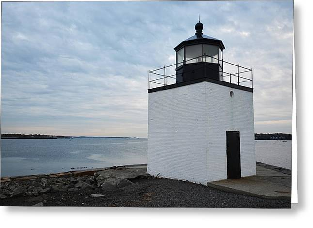 Derby Wharf Light Salem Ma Greeting Card by Toby McGuire