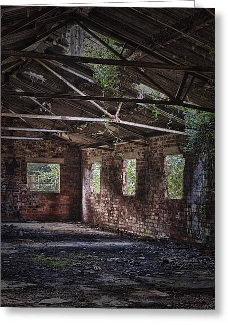 Derelict Building Greeting Card by Amanda Elwell