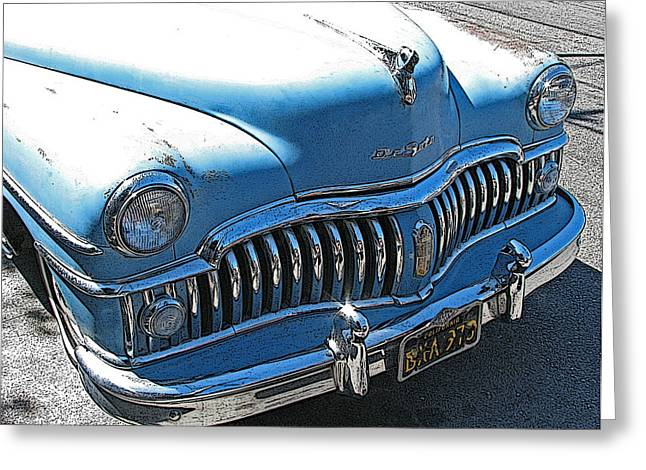 Derelict Desoto Greeting Card by Samuel Sheats