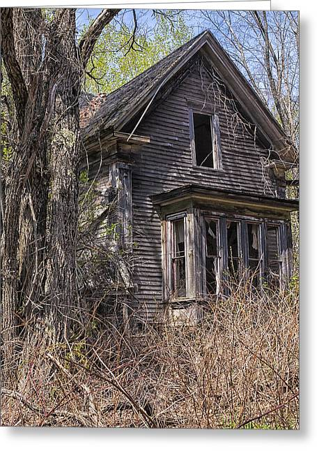 Greeting Card featuring the photograph Derelict House by Marty Saccone