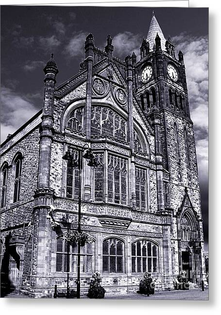 Derry Guildhall Greeting Card by Nina Ficur Feenan