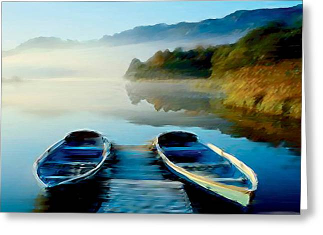 Derwent Water  Greeting Card by Neil Kinsey Fagan