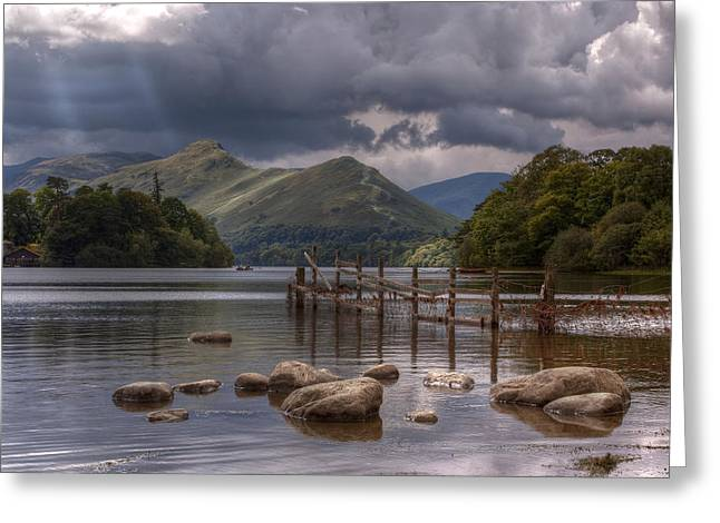 Derwent Water Towards Catsbells Greeting Card