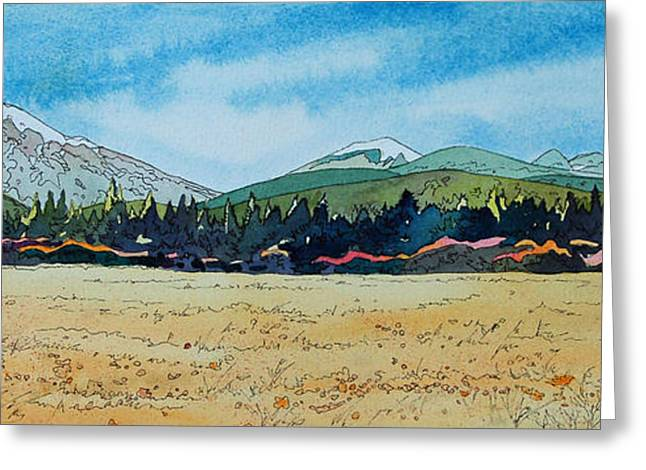 Deschutes River View Greeting Card by Terry Holliday