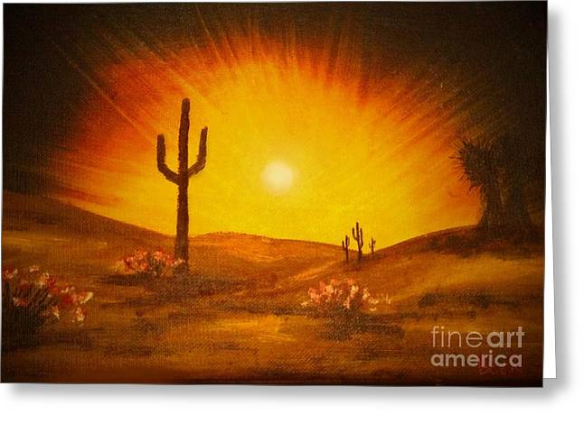 Desert Aglow Greeting Card