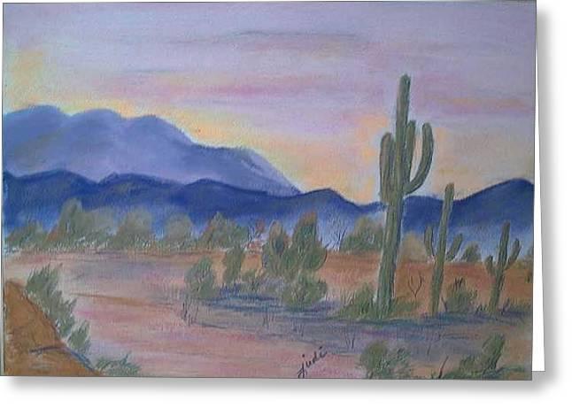 Desert Aglow Greeting Card by Judi Pence