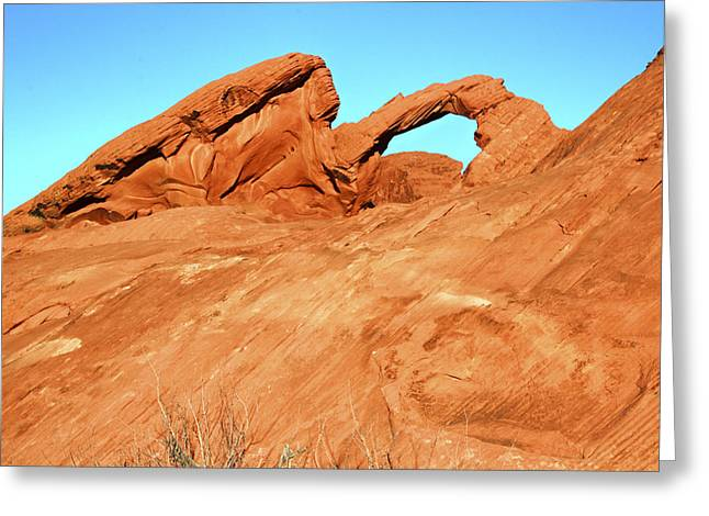 Desert Arch Greeting Card by Laura Palmer