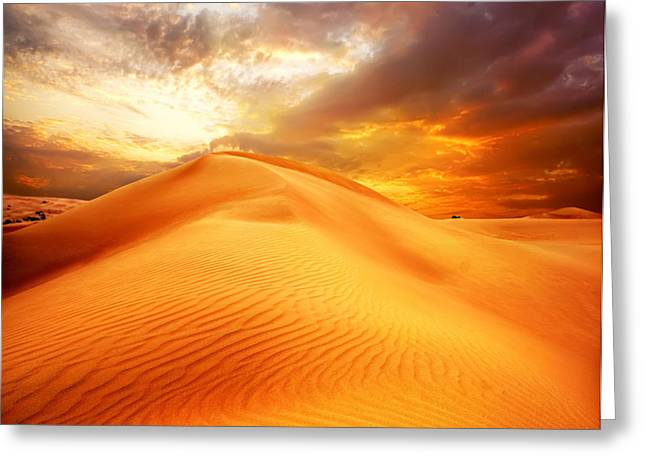 Desert Art Greeting Card by Boon Mee