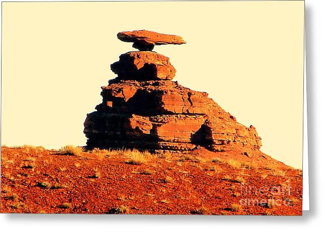 Desert Balance Act Greeting Card by John Potts