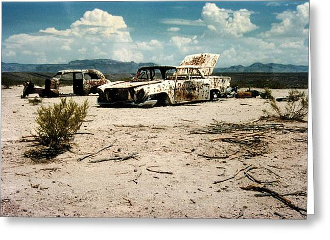 Desert Cars Greeting Card
