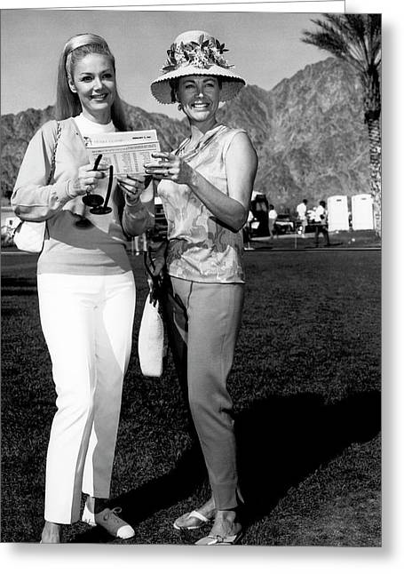 Desert Classic Golf Fashion Greeting Card by Underwood Archives