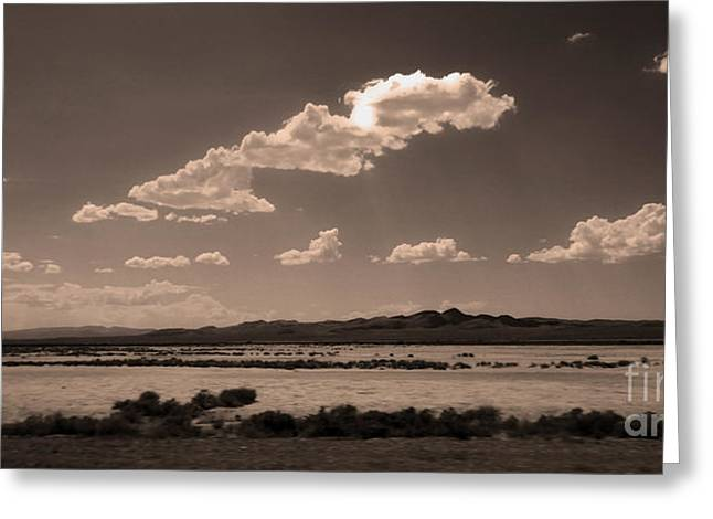 Desert Clouds Greeting Card by Gregory Dyer