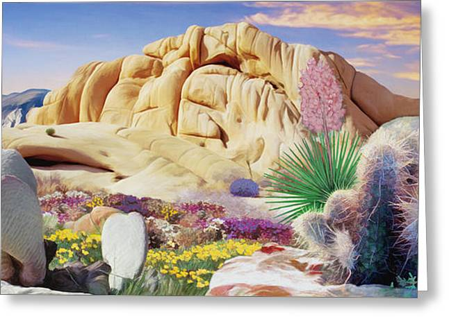 Desert Colors  Greeting Card by Snake Jagger