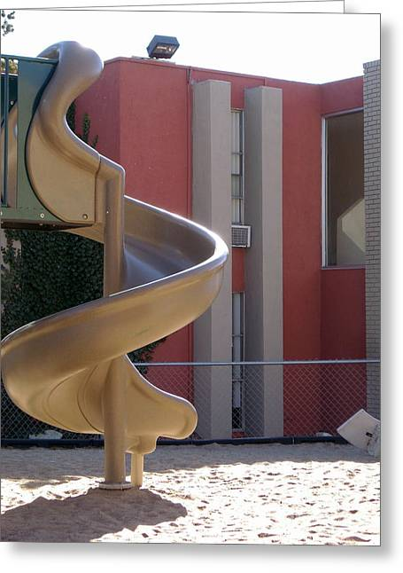 Desert Creek Apts Curves And Lines Greeting Card