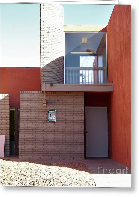 Desert Creek Apts Rectangles And Curve Greeting Card