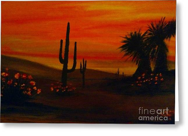 Desert Dance Greeting Card